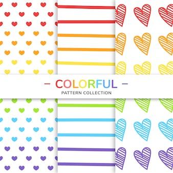 Coleção padrão colorido.