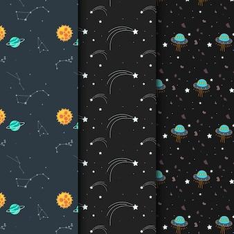 Coleção padrão cósmico sem costura