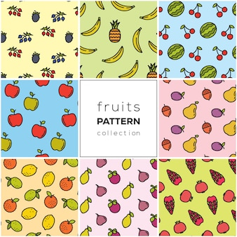 Coleção padrão de frutas