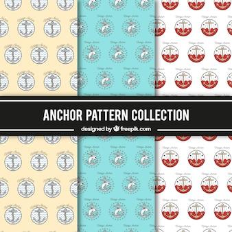Coleção padrão de padrão de âncora