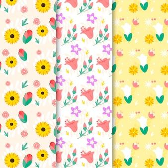 Coleção padrão de primavera colorida