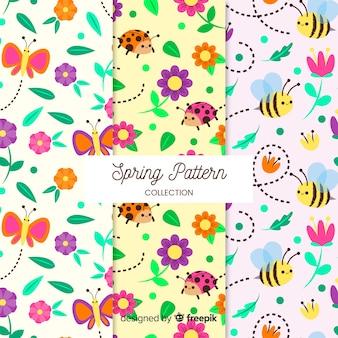Coleção padrão de primavera