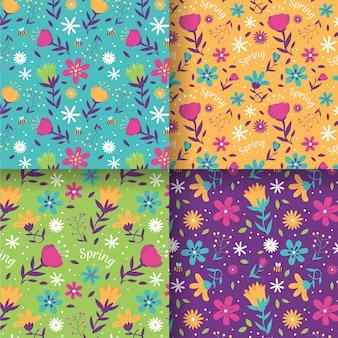 Coleção padrão floral primavera