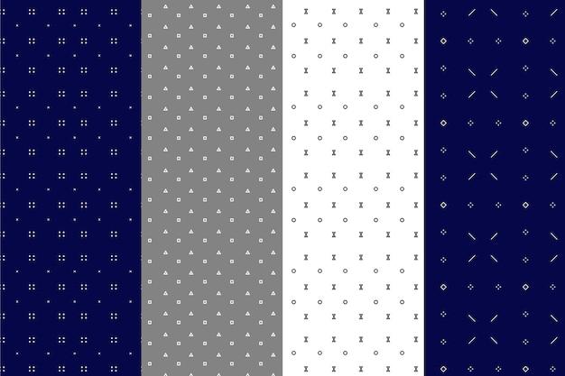 Coleção padrão geométrico mínimo