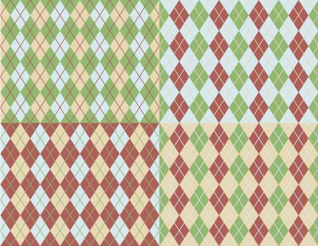 Coleção padrões argyle