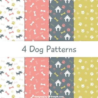 Coleção padrões cão