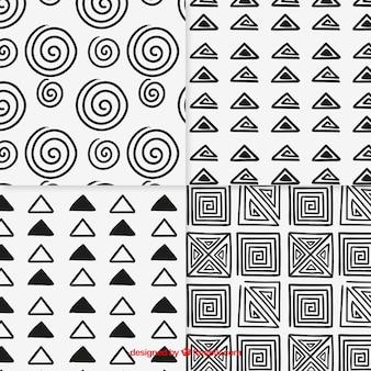 Coleção padrões esboçado