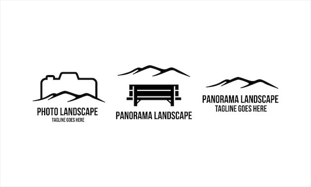Coleção panorama landscape logo design