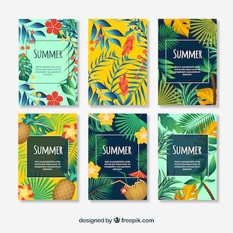 Coleção para cartões de verão