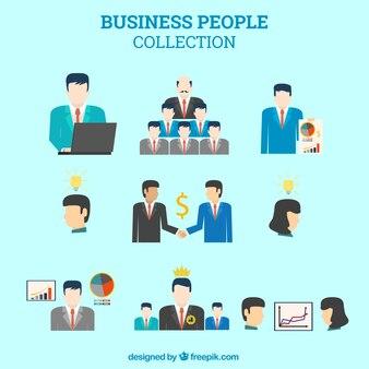 Coleção pessoas de negócios