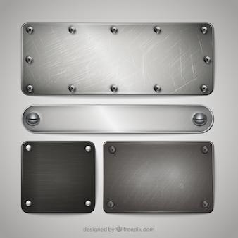 Coleção placas de prata