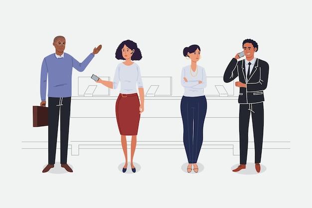 Coleção plana de executivos