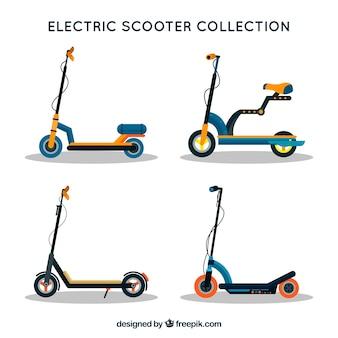 Coleção plana de scooter elétrico