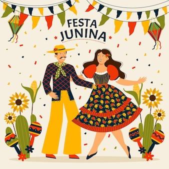 Coleção plana festa junina orgânica