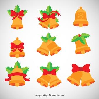Coleção plana jingle bells