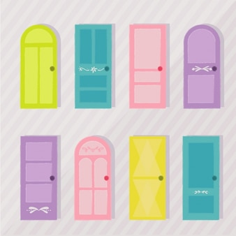 Coleção portas colorido