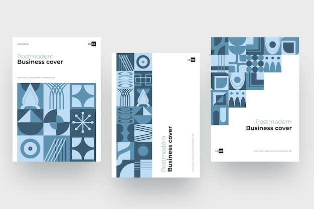 Coleção pós-moderna de capa de negócios