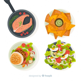 Coleção prato de comida