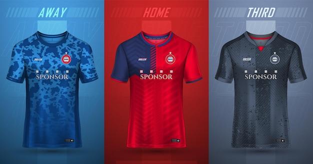 Coleção premium de camisetas de futebol
