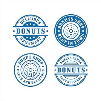 Coleção premium de selos donut