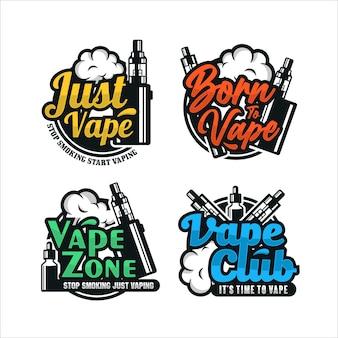 Coleção premium do logotipo da vape design