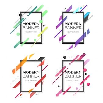 Coleção profissional de banner moderno