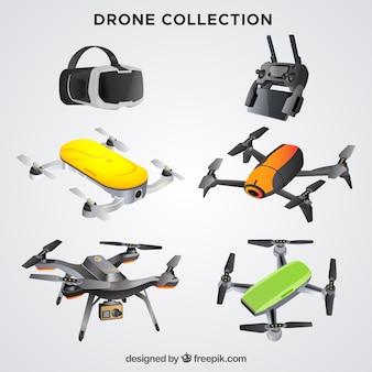 Coleção realista de drones