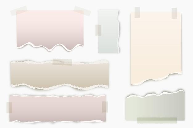 Coleção realista de efeito de papel rasgado