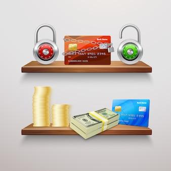 Coleção realista de finanças