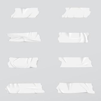 Coleção realista de fitas adesivas.