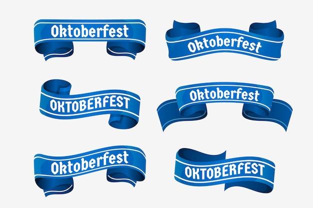 Coleção realista de fitas de oktoberfest