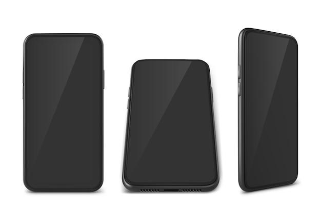 Coleção realista de smartphones