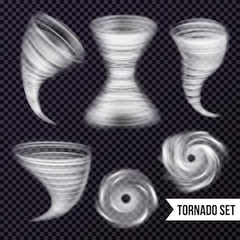 Coleção realista de tempestade monocromática