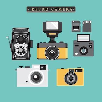 Coleção retro camera