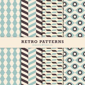 Coleção retro de belos padrões decorativos