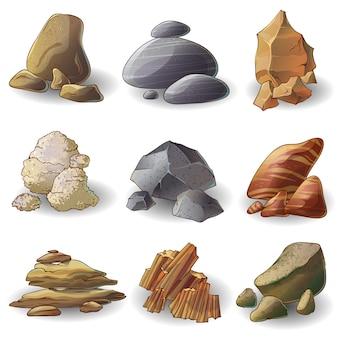 Coleção rocks stones