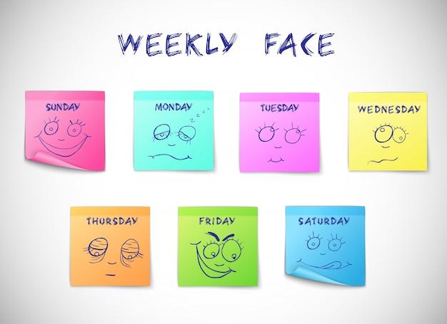 Coleção rostos semanais