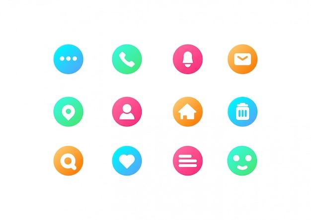 Coleção simples ícone