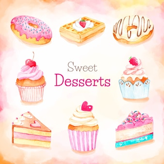 Coleção sobremesas doces