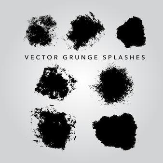Coleção splashes do grunge