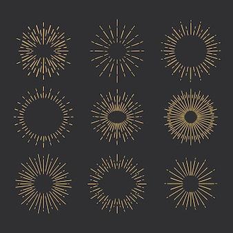 Coleção sunburst desenhada à mão