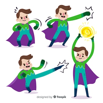 Coleção super-herói masculino