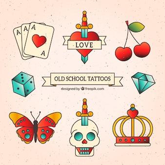 Coleção tatuagem da velha escola