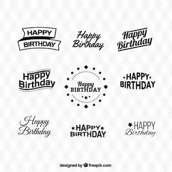Coleção tipos de aniversário feliz