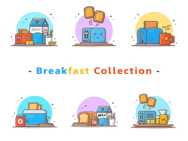 Coleção toaster breakfast