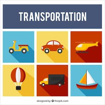 Coleção transporte plano