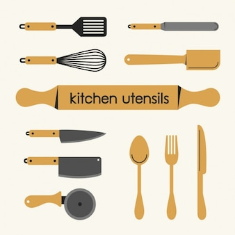 Coleção utensílios de cozinha