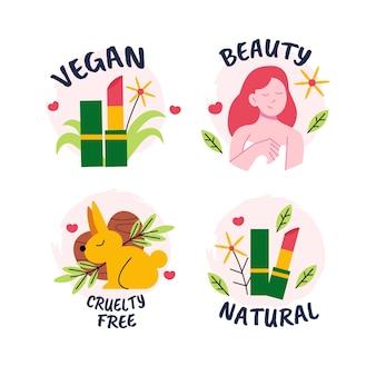 Coleção vegana e sem crueldade desenhada à mão