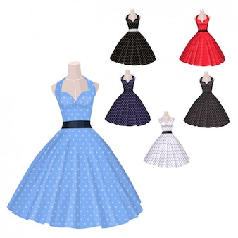 Coleção velhos vestidos estilo