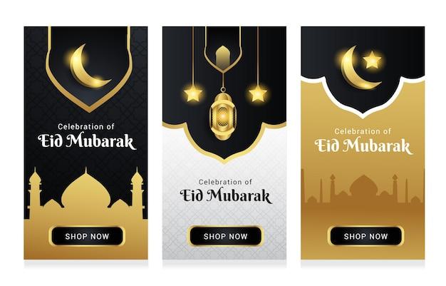 Coleção venda de cartões do ramadã